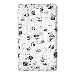 White And Gray Soul Samsung Galaxy Tab 4 (7 ) Hardshell Case  by Valentinaart