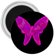 Purple Butterfly 3  Magnets by Valentinaart