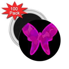 Purple Butterfly 2 25  Magnets (100 Pack)  by Valentinaart