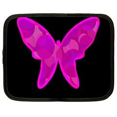 Purple Butterfly Netbook Case (large) by Valentinaart