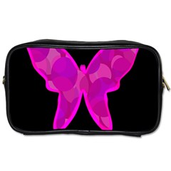 Purple Butterfly Toiletries Bags 2 Side by Valentinaart