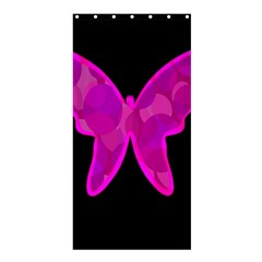 Purple butterfly Shower Curtain 36  x 72  (Stall)