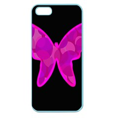 Purple Butterfly Apple Seamless Iphone 5 Case (color) by Valentinaart