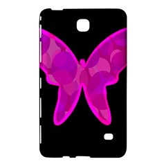 Purple Butterfly Samsung Galaxy Tab 4 (8 ) Hardshell Case  by Valentinaart