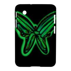 Green Neon Butterfly Samsung Galaxy Tab 2 (7 ) P3100 Hardshell Case  by Valentinaart