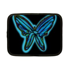 Blue Butterfly Netbook Case (small)  by Valentinaart