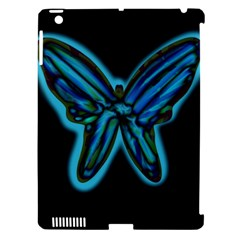 Blue Butterfly Apple Ipad 3/4 Hardshell Case (compatible With Smart Cover) by Valentinaart
