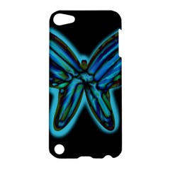 Blue Butterfly Apple Ipod Touch 5 Hardshell Case by Valentinaart