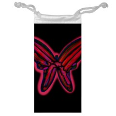 Red Butterfly Jewelry Bags by Valentinaart