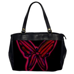 Red Butterfly Office Handbags by Valentinaart