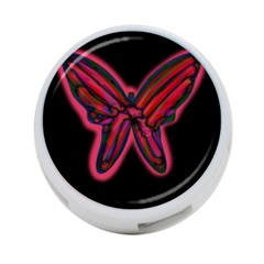 Red Butterfly 4 Port Usb Hub (two Sides)  by Valentinaart