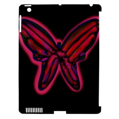 Red Butterfly Apple Ipad 3/4 Hardshell Case (compatible With Smart Cover) by Valentinaart
