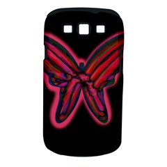 Red Butterfly Samsung Galaxy S Iii Classic Hardshell Case (pc+silicone) by Valentinaart