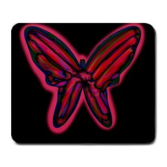 Red Butterfly Large Mousepads by Valentinaart
