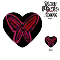 Red Butterfly Multi Purpose Cards (heart)