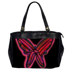 Red Butterfly Office Handbags (2 Sides)  by Valentinaart
