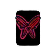Red Butterfly Apple Ipad Mini Protective Soft Cases by Valentinaart