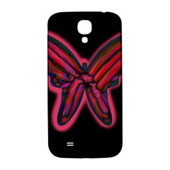 Red Butterfly Samsung Galaxy S4 I9500/i9505  Hardshell Back Case by Valentinaart
