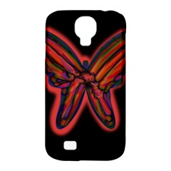 Red Butterfly Samsung Galaxy S4 Classic Hardshell Case (pc+silicone) by Valentinaart