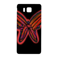 Red Butterfly Samsung Galaxy Alpha Hardshell Back Case by Valentinaart