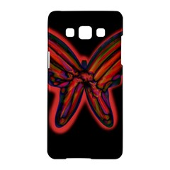 Red butterfly Samsung Galaxy A5 Hardshell Case  by Valentinaart