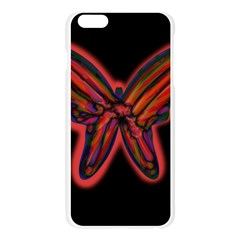 Red butterfly Apple Seamless iPhone 6 Plus/6S Plus Case (Transparent) by Valentinaart