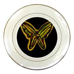 Night Butterfly Porcelain Plates by Valentinaart