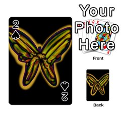 Night butterfly Playing Cards 54 Designs  by Valentinaart