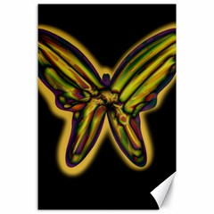 Night Butterfly Canvas 24  X 36  by Valentinaart