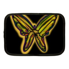 Night Butterfly Netbook Case (medium)  by Valentinaart