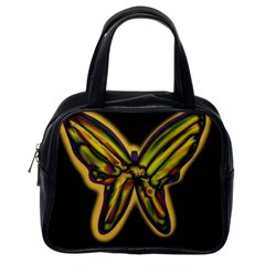 Night Butterfly Classic Handbags (one Side) by Valentinaart