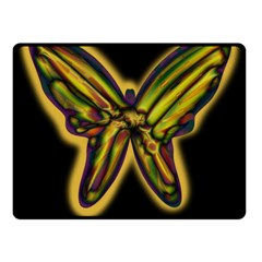 Night Butterfly Fleece Blanket (small) by Valentinaart
