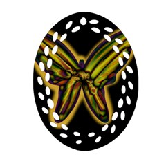 Night butterfly Oval Filigree Ornament (2-Side)  by Valentinaart