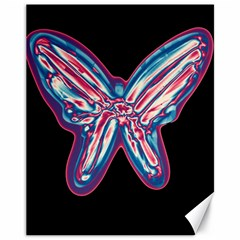 Neon Butterfly Canvas 11  X 14   by Valentinaart