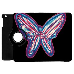 Neon Butterfly Apple Ipad Mini Flip 360 Case by Valentinaart
