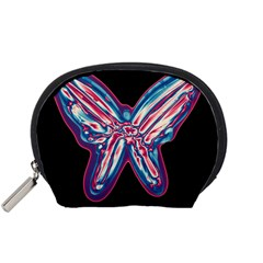 Neon Butterfly Accessory Pouches (small)  by Valentinaart