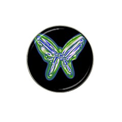 Green Neon Butterfly Hat Clip Ball Marker (10 Pack) by Valentinaart
