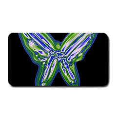 Green Neon Butterfly Medium Bar Mats by Valentinaart