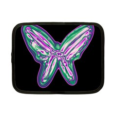 Neon Butterfly Netbook Case (small)  by Valentinaart