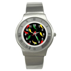 Chili Peppers Stainless Steel Watch by Valentinaart