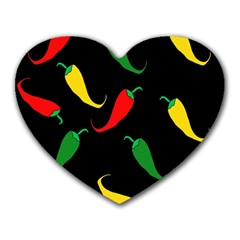 Chili Peppers Heart Mousepads by Valentinaart