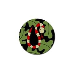 Red Cartoon Snake Golf Ball Marker (10 Pack) by Valentinaart