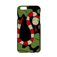Red Cartoon Snake Apple Iphone 6/6s Hardshell Case by Valentinaart