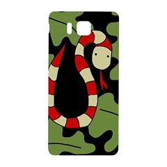 Red Cartoon Snake Samsung Galaxy Alpha Hardshell Back Case by Valentinaart