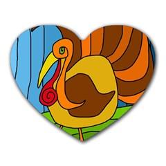 Thanksgiving Turkey  Heart Mousepads by Valentinaart