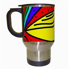 Yellow Bird Travel Mugs (white) by Valentinaart