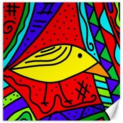 Yellow bird Canvas 16  x 16