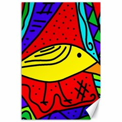 Yellow Bird Canvas 24  X 36  by Valentinaart