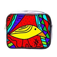 Yellow Bird Mini Toiletries Bags by Valentinaart