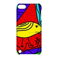 Yellow Bird Apple Ipod Touch 5 Hardshell Case With Stand by Valentinaart